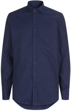 Hackett Dot Pattern Flannel Shirt