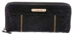 MICHAEL Michael Kors Embossed Zip-Around Wallet