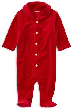 Ralph Lauren Boys' Velour Holiday Coverall - Baby