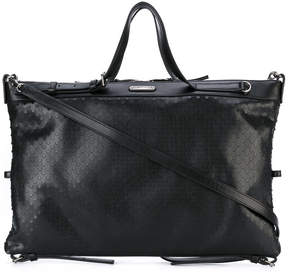 Saint Laurent embossed tote - BLACK - STYLE