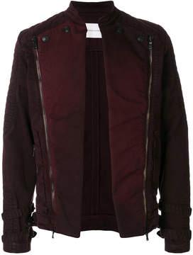 Pierre Balmain quilted open biker jacket