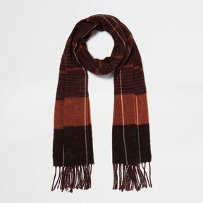 River Island Womens Rust orange check scarf