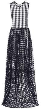 Jil Sander Sheer diamond maxi dress