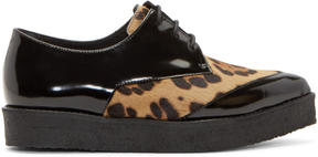 Pierre Hardy Black Calf-Hair Creepers