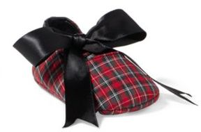 Ralph Lauren Briley Tartan Slipper Red Tartan Plaid 0 (0-6 Wks)