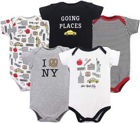 Hudson Baby Black & White New York Bodysuit Set - Infant