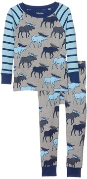 Hatley Blue Moose Long Sleeve Pajama Set Boy's Pajama Sets