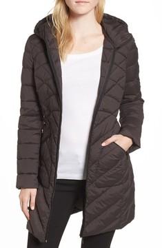 Bernardo Women's Packable Hooded Down & Primaloft Walker Jacket