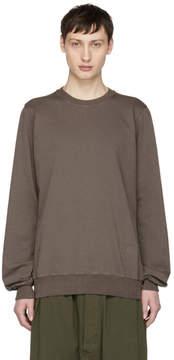 Rick Owens Grey Crewneck Sweatshirt