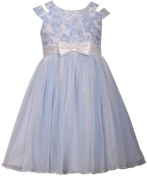 Bonnie Jean Girls 7-16 Metallic Floral Cutout Ballerina Dress
