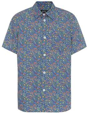 A.P.C. Floral cotton shirt