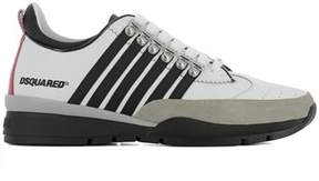 DSQUARED2 Men's White Leather Sneakers.