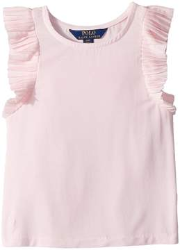 Polo Ralph Lauren Jersey Flutter-Sleeve Top Girl's Clothing