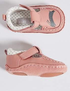 Marks and Spencer Baby Leather Riptape Pram Shoes