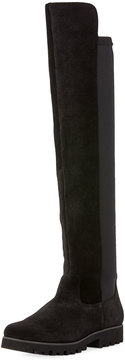 Donald J Pliner Ronda Tall Suede Stretch Combo Boot