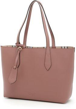Burberry Small Reverse Shopping Bag - LIGHT ELDERBERRY|ROSA - STYLE