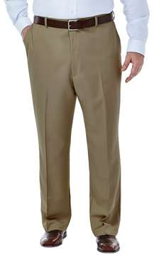 Haggar Big & Tall Cool 18® Classic-Fit Flat-Front No-Iron Expandable Waist Pants
