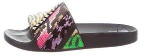 Marc Jacobs Cooper Punk Patchwork Slide Sandals