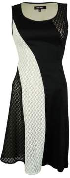 Nine West Women's Lace Illusion Dress