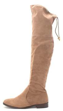 Wanted Womens Pheasant Round Toe Over Knee Fashion Boots.