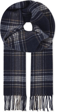 Eton Checked wool scarf