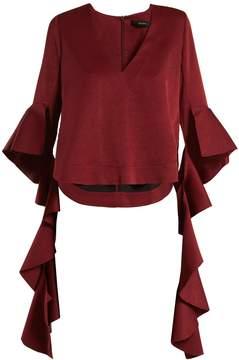 Ellery Reverberation deconstructed-sleeved top