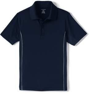 Lands' End Lands'end School Uniform Boys Short Sleeve Reflective Active Polo