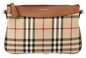 Burberry Peyton Horseferry Check & Leather Clutch. - TAN - STYLE