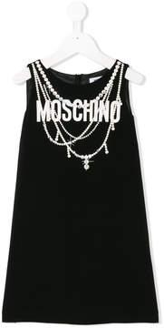 Moschino Kids pearl print straight dress