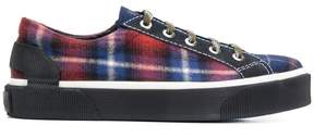 Lanvin checked low-top sneakers