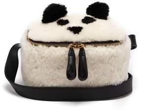 Anya Hindmarch Panda Shearling Lunch Box Bag - Womens - White Multi