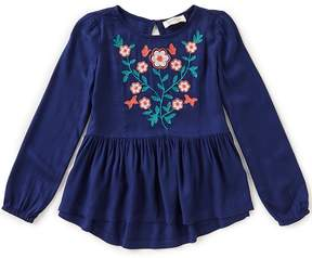 Jessica Simpson Big Girls 7-16 Juliette Floral-Embroidered Woven Top