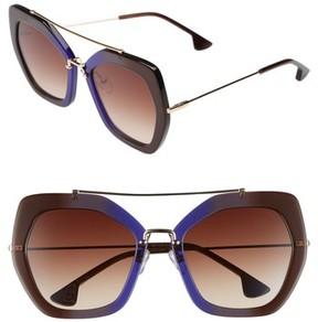 Alice + Olivia Women's Bowery 55Mm Geometric Sunglasses - Royal Fade