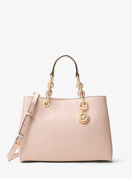 Michael Kors Cynthia Medium Saffiano Leather Satchel - PINK - STYLE