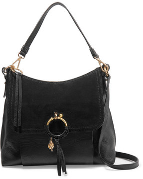 See by Chloé - Joan Suede-paneled Leather Shoulder Bag - Black