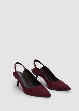 MANGO Crystal slingback shoes