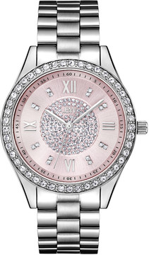 JBW Mondrian Pink Diamond Dial Stainless Steel Ladies Watch