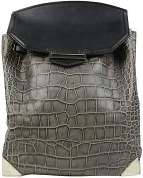 Alexander Wang Grey Leather Backpacks