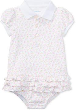Polo Ralph Lauren Ralph Lauren Floral-Print Cotton Polo Dress, Baby Girls