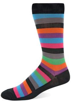 Hot Sox Striped Knit Socks