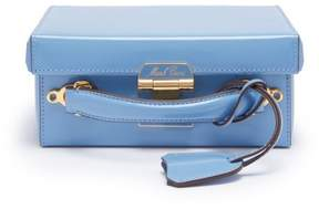 Mark Cross Grace Small Smooth Leather Box Bag - Womens - Light Blue