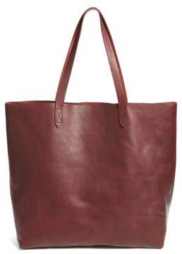 Madewell Transport Leather Tote - Red