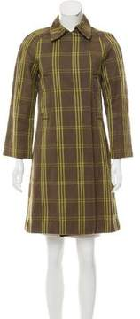 Behnaz Sarafpour Plaid Knee-Length Coat