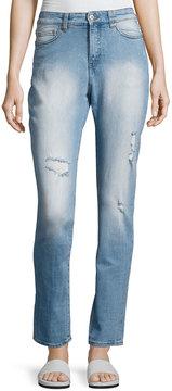Cheap Monday Donna High-Rise Straight-Leg Jeans, Light Blue