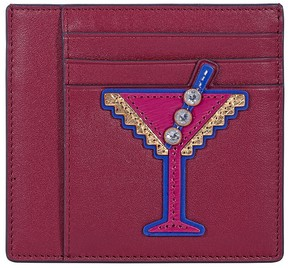 Tory Burch Martini Applique Square Card Case - Imperial Green - ONE COLOR - STYLE