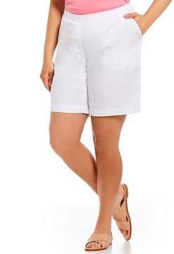 Allison Daley Plus Pull-On Rivet Detail Hem Cottage Solid Shorts