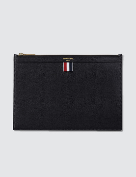 Thom Browne Pebble Grain Leather Medium Zipper Document Holder (A4) 35x25 cm