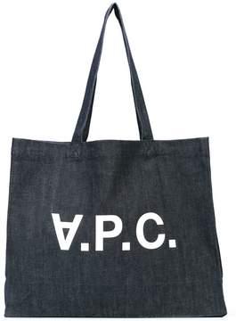 A.P.C. logo shopper tote