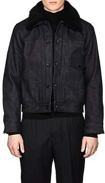 Rag & Bone Men's Bartack Shearling-Lined Denim Jacket