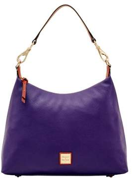 Dooney & Bourke Pebble Grain Juliette Hobo Shoulder Bag - PLUM - STYLE